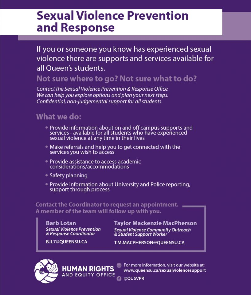 Queen's Sexual Violence Prevention