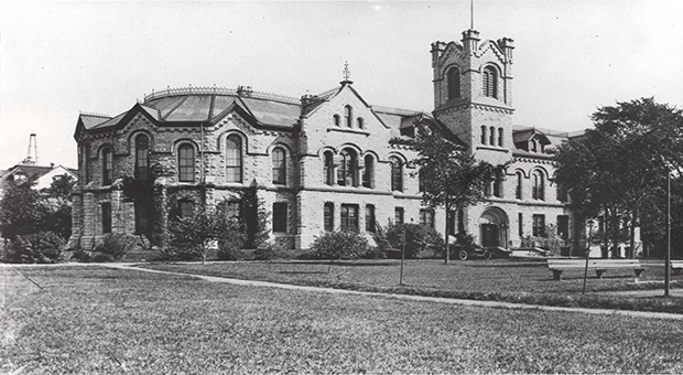 Theological Hall was a hub for religious education during Queen's years as a  Presbyterian college.