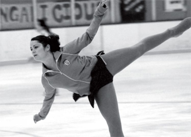 A Gael warms up at the Queen's Invitational skating competition at Jock Harty Arena last Friday.