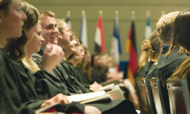 Crowds of students, administration and faculty assembled for spring convocation ceremonies in late May and early June.