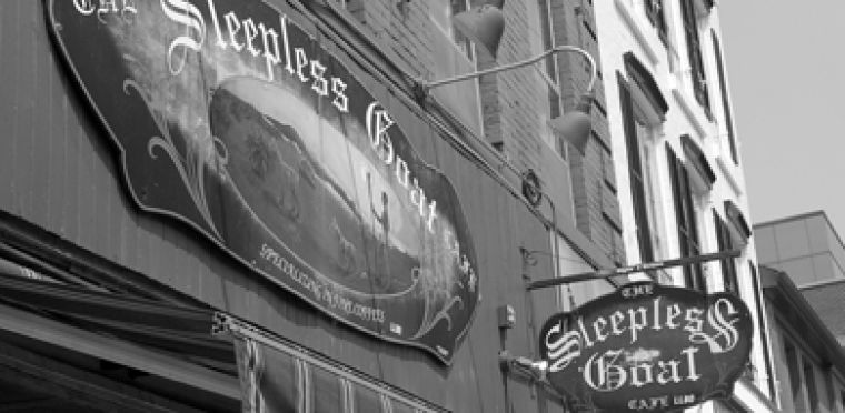 Sipping coffee or tea at the Sleepless Goat at 91 Princess St. provides an alternative to drinking for underage students.