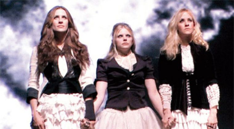 "The Dixie Chicks on the set of their video for the unapologetic ""Not Ready to Make Nice."""