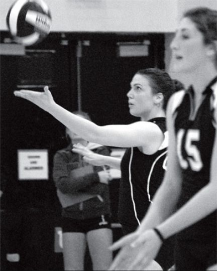 Women's volleyball played three games in four days last week.