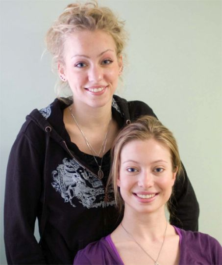 Jessie Masskant and Aynsley Young, both Nurs '07, aren't planning on staying in Kingston after they graduate.