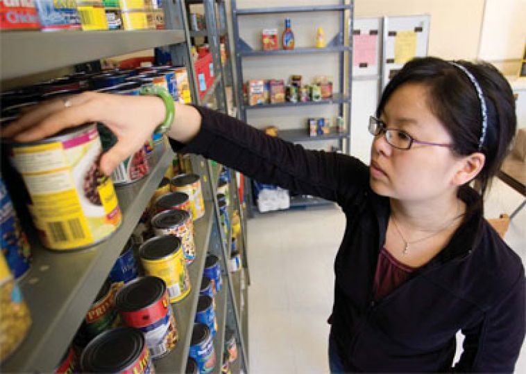 AMS Foodbank Manager Tara Tran thinks the Foodbank's new location in Macgillivray-Brown Hall may be a factor in the recent decline in visits, but said there isn't much she can do about the new location.