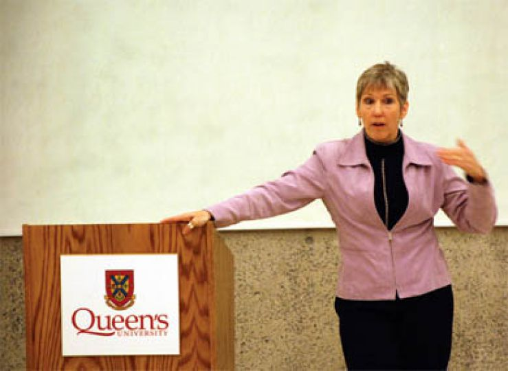 Kimberly Woodhouse spoke about her vision for Queen's engineering yesterday.