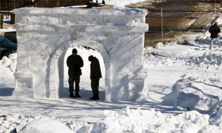Queen's engineering students competed against RMC engineering students in a snow fort building last Friday and Saturday as part of Kingston's annual FebFest. RMC was victorious.