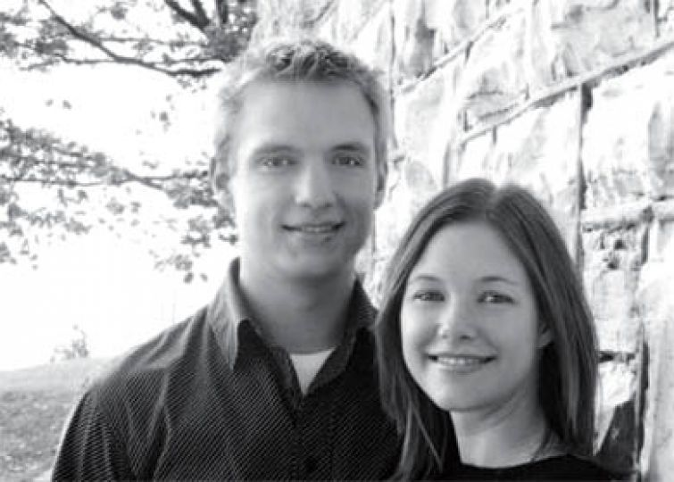 Jason Stapley and Cara Walker met in their first year at Queen's. Four years later, the two plan to wed this May in Kingston.