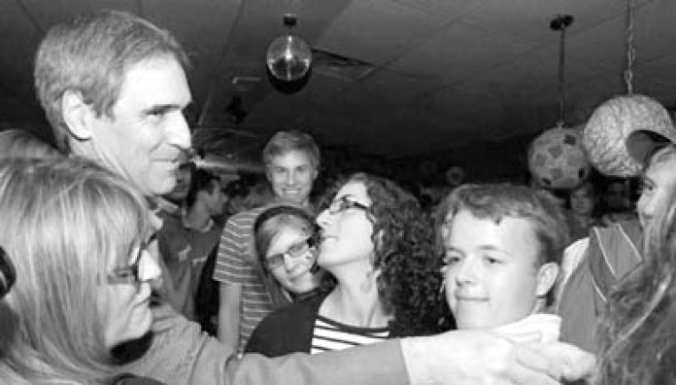 Liberal leadership candidate Michael Ignatieff greets young Liberals at a kick-off for his youth campaign in Montreal Saturday.
