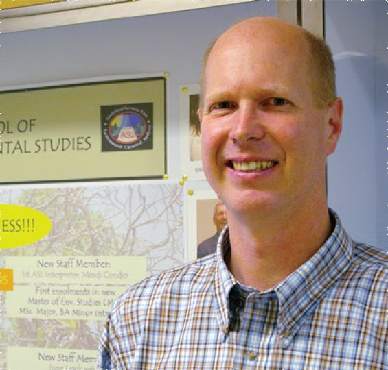 Brian Cumming of the School of Environmental Studies.