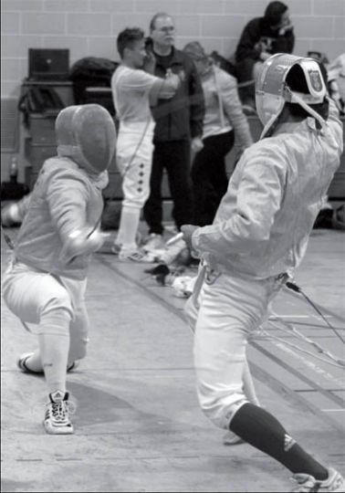 The fencing team is preparing for the provincial championships.