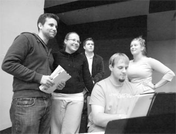 The QMT audition panel belts out a tune. This year, QMT's production of Into the Woods will be performed in Grant Hall from Jan. 16 to 21.