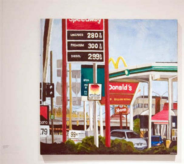 "Monture's ""American Fill-Up"" examines the space in modern consumerist society."