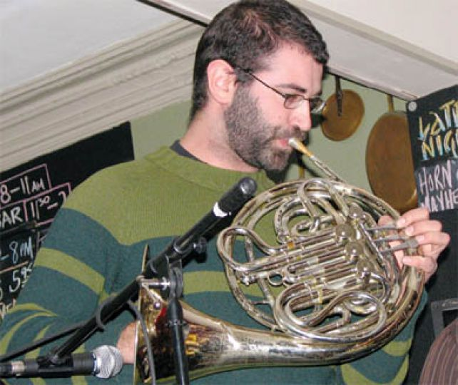 Torngat's Pietro Amato plays his horn of mayhem.