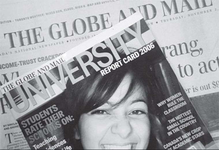 The Globe's University Report Card graded 49 universities.