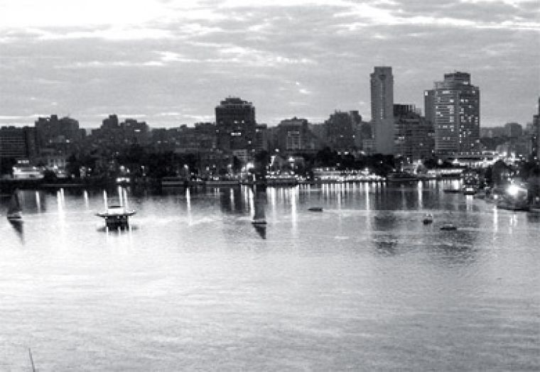 Scenic view of the Nile River in Egypt. Cairo is the largest capital city in Africa.