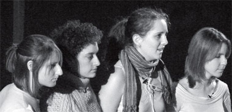 Queen's students perform in The Vagina Monologues last February, proving that you don't have to be a bra-burning man-hater to be a feminist.