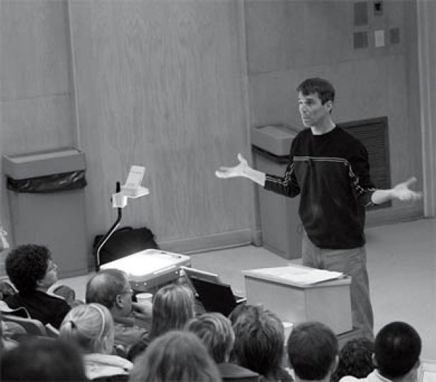 Law Professor Bruce Pardy talked about the importance of rebellion in environmentalism.