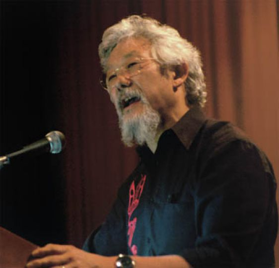 David Suzuki spoke in front of a full house at Duncan McArthur auditorium on Thursday evening. He's touring the country on his 'If You were Prime Minister' tour, talking to Canadians about what they can do for the environment.