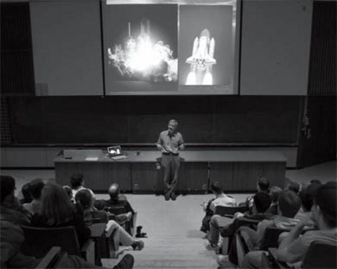 Astronaut Marc Garneau spoke about the experience of spaceflight at Queen's on Mar. 16.
