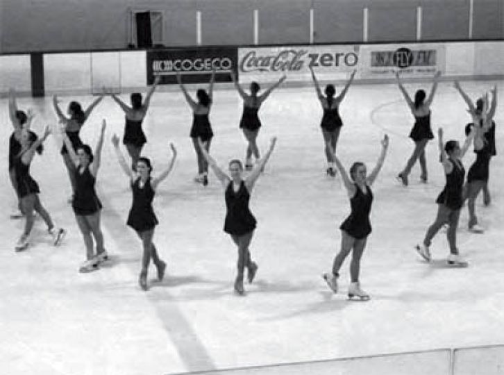 The figure skating team competes together in Waterloo.