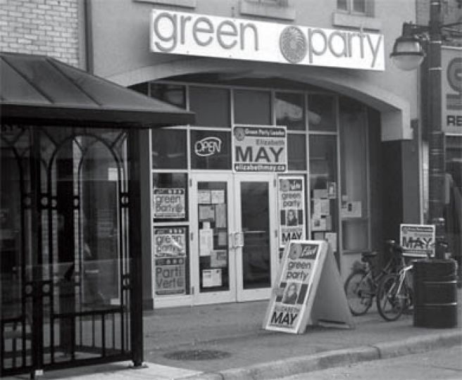The Queen's Greens went to London to campaign for Green party leader Elizabeth May.