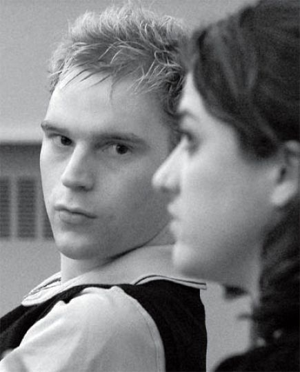John Taggart, left, and Ainsley Brittain were hired as co-directors of the Vagina Monologues.