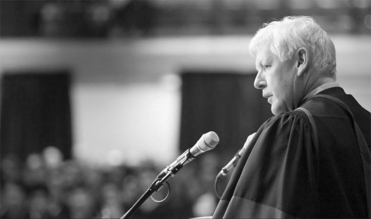Liberal leadership candidate Bob Rae addressed graduates at the May 24 convocation, where he was awarded an honorary degree.