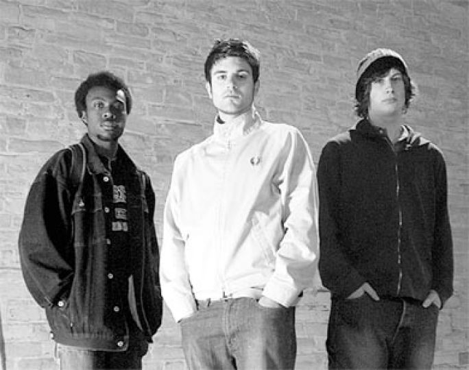 Bedouin Soundclash, now based out of Toronto, pose on campus in 2004.
