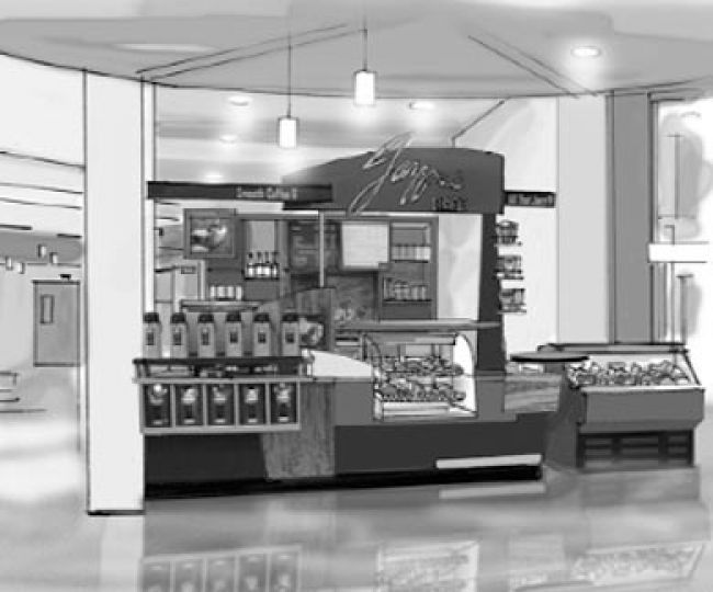 A rendering of the proposed Jazzman Café.