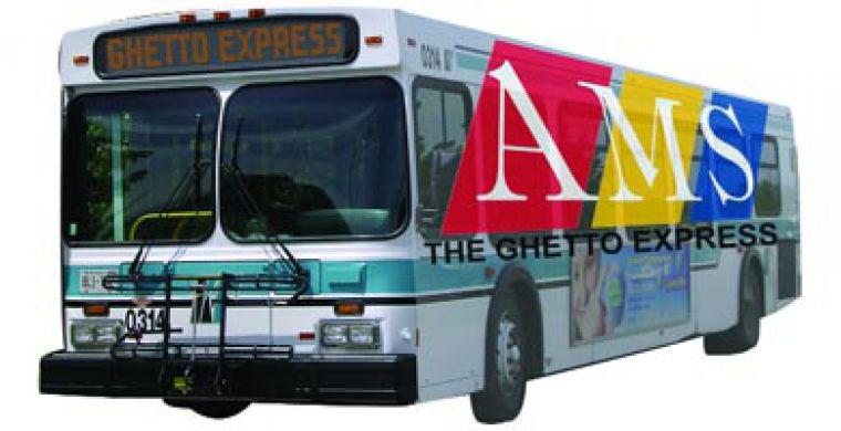 "The new Student Circuit bus was initially nicknamed the ""Ghetto Express."""