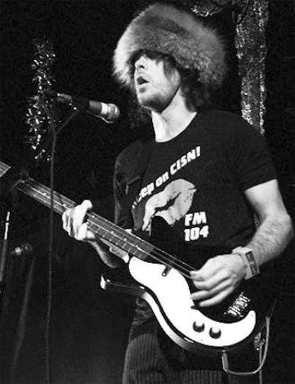 Bassist/vocalist Lyle Bell perpetuates a Canadian stereotype with a big fur hat.
