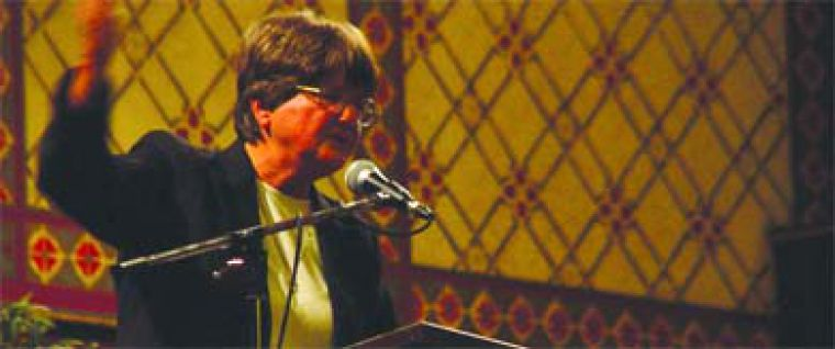 Sister Helen Prejean, a New Orleans nun and the author of Dead Man Walking, spoke about her work against the death penalty at Grant Hall Wednesday night.