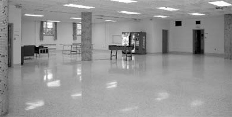 The lower common room in Victoria Hall is one space that may get redecorated.