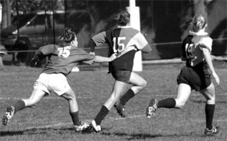 The Golden Hawks couldn't keep up with women's rugby as Queen's completed a perfect regular season on Saturday.