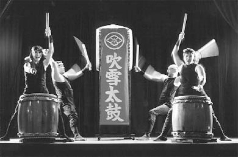 "Fubuki Daiko bring their ""blizzard drums"" to the Octave theatre tonight."