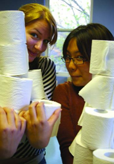 1. THE MUMMY: Gather toilet paper. Lots of it. When you think you've grabbed enough, get more.