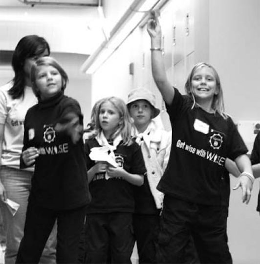 Girl Guides participated in science and engineering activities Saturday in the ILC.