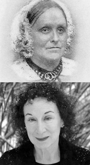 Susanna Moodie, top, has been replaced as the queen of CanLit by Margaret Atwood, bottom, and the attendant stereotypes should also be lifted.
