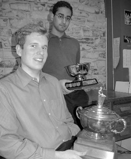 Jim Nicholson, ArtSci '05 and Aron Seal, a masters candidate, placed first at the Central Canadian Debating Championship.