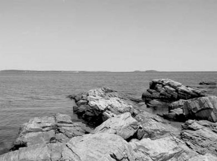 A rocky view of the Atlantic from Prouts Neck in Scarborough, Maine.