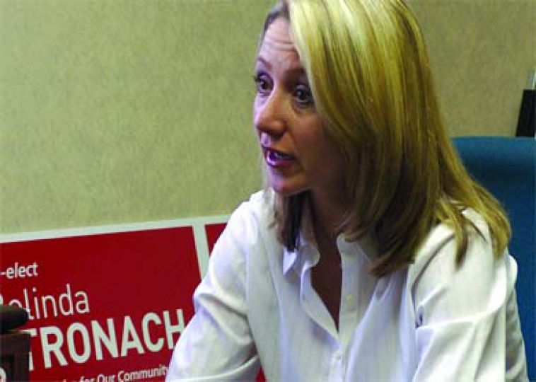 Belinda Stronach speaks to the Journal in her campaign office on Dec. 22.