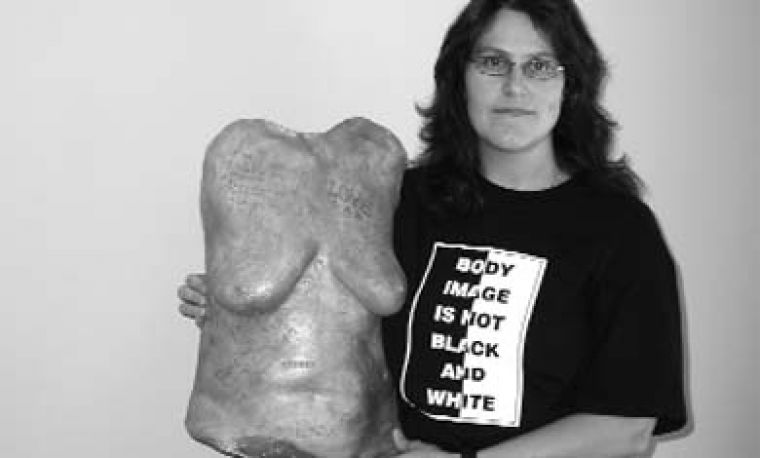 Artist Cheryl-Ann Webster made 119 sculptures of the female torso to promote positive body image among women.
