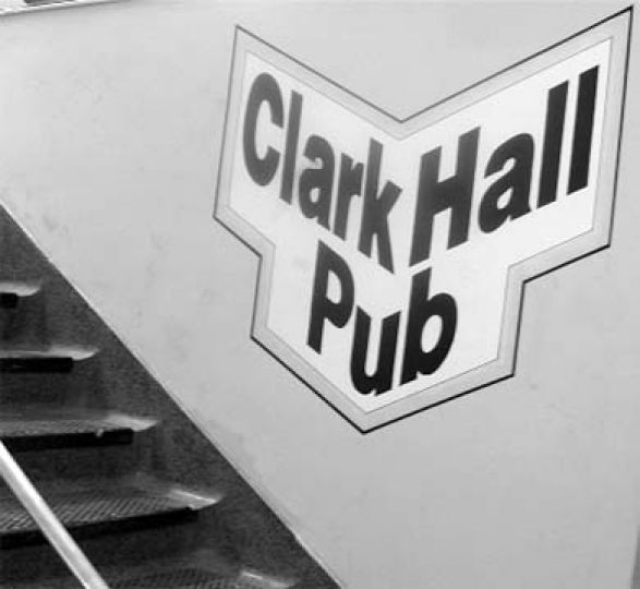Clark Hall Pub is one of three campus bars that formerly allowed underage students as non-drinking patrons on specific nights.