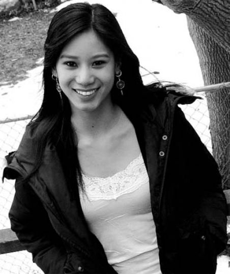 Elena Juatco—student by day, Canadian Idol contestant/actress by night.