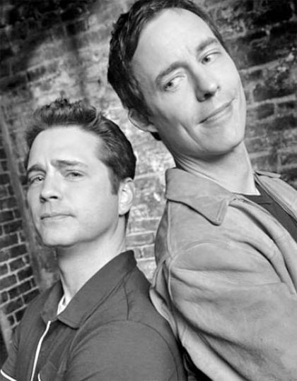 Canadians Jason Priestley and Tom Cavanagh, stars of Love Monkey.