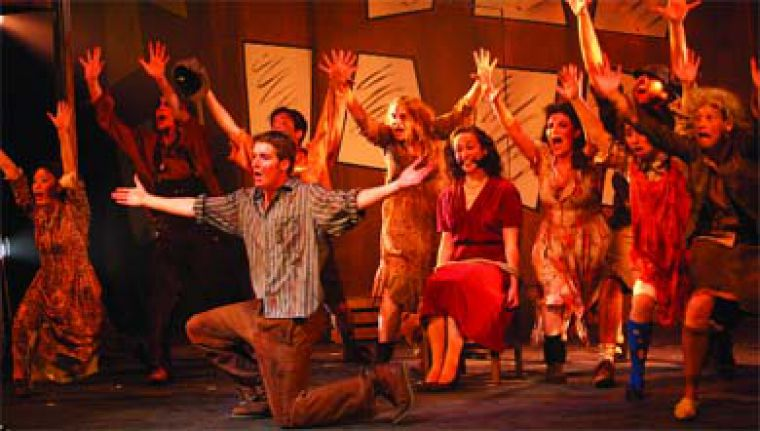QMT packs a heavy punch with the edgy and deliciously jazzy Urinetown, now playing at Convocation Hall.
