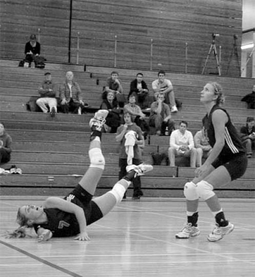 Women's volleyball has displayed no lack of hustle thus far this year.