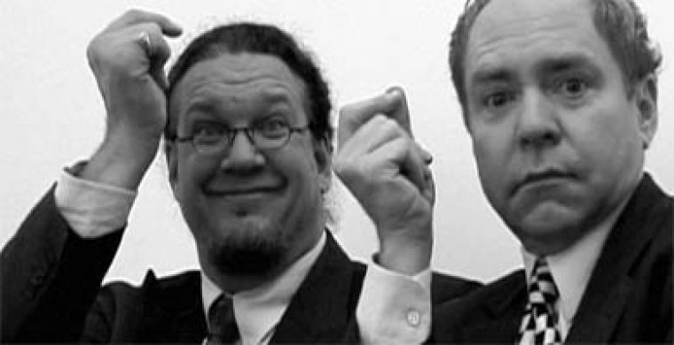 Penn and Teller work their magic for audiences in The Aristocrats, now out on DVD.