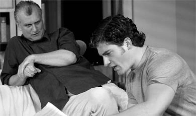 Clay Travis (right, played by Steve Schadinger) is a promising young actor in Theatre Kingston's Rough Magic.